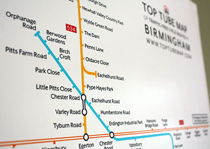 Shop Buy Map Posters Top Tube Map Of TrafficFree Cycle Routes - Buy map posters