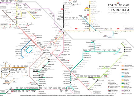 Full Top Tube Map poster